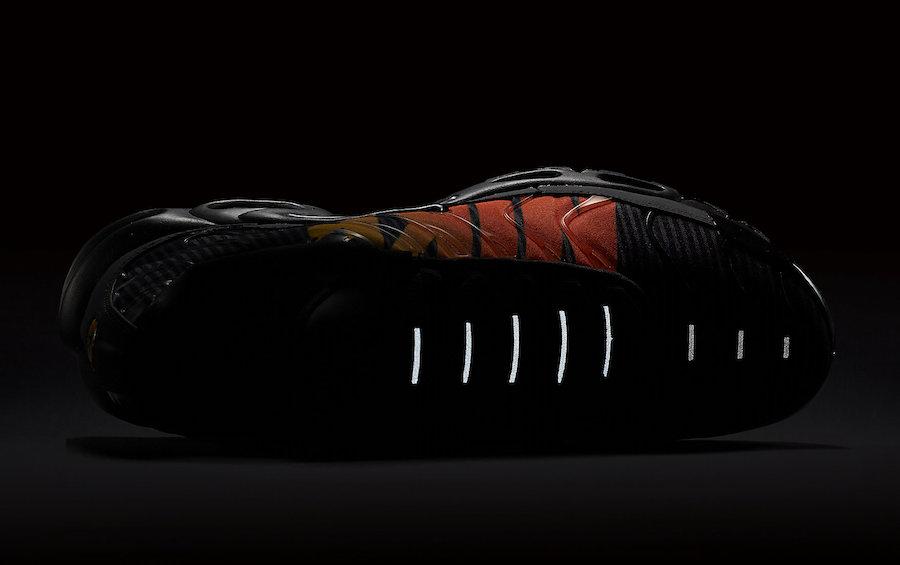 Nike Air Max Plus Striped Black Orange AT0040 002 Sneaker