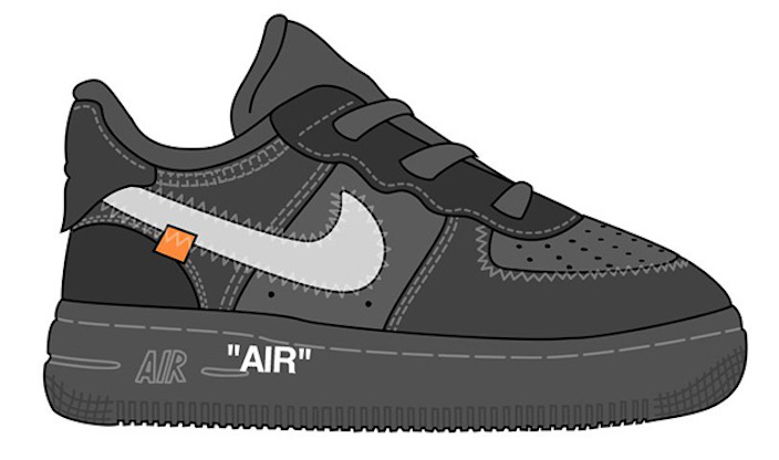 695ba1959015 Virgil Abloh s Off-White x Nike Air Force 1 Low Releasing in Toddler ...