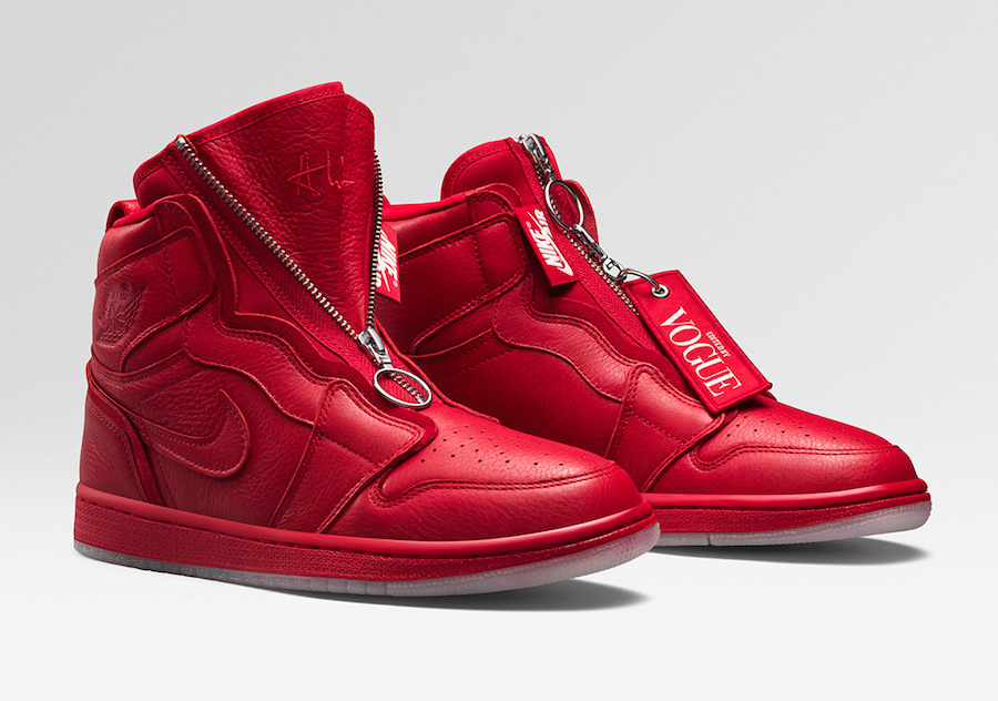 4482e2f8a743 Vogue Air Jordan 1 High Zip AWOK University Red BQ0864-601 Release Date
