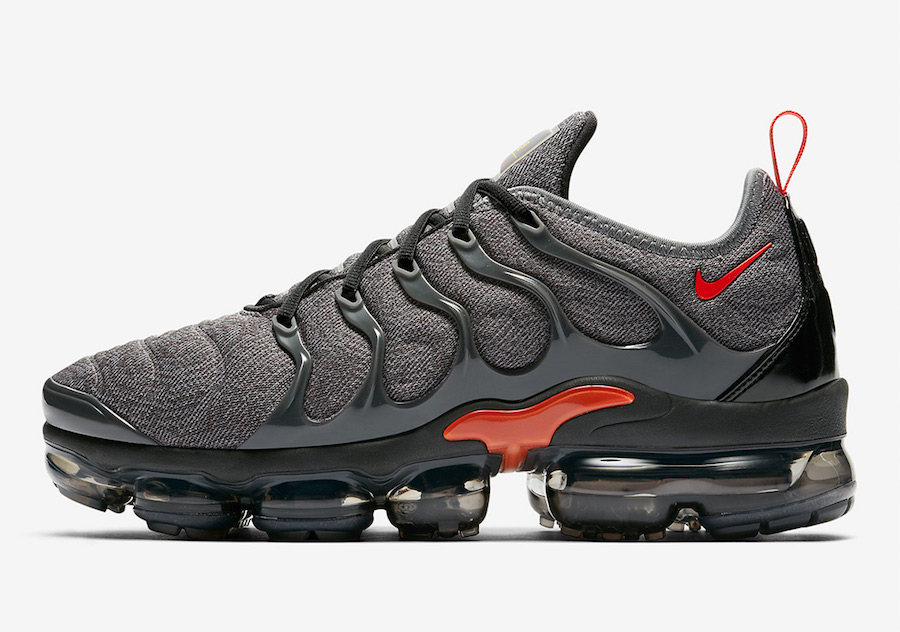 cfcee17022a Nike Air VaporMax Plus Grey Red 924453-012 Release Date