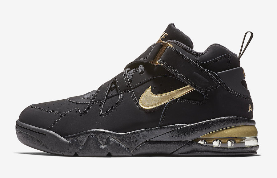 buy popular f6417 2bde1 Nike Air Force Max CB Black Metallic Gold AJ7922-001 Release Date