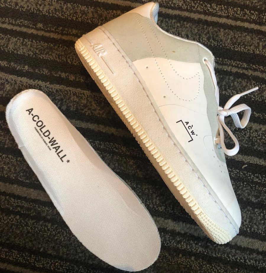 5366b7932a7 First Look  A-COLD-WALL x Nike Air Force 1 Low